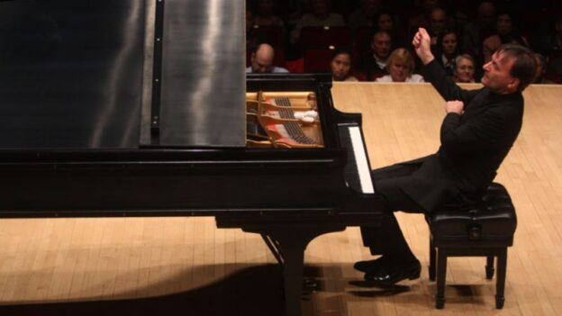 A recital by pianist Stephen Hough streams from Spivey Hall this Sunday.(credit: Hiroyuki Ito)