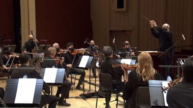 "Robert Spano will led the Atlanta Symphony Orchstra in four of thirteen ""Behind the Curtain"" concert this spring.[video frame capture / ASO ]"