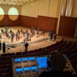"""Recording session for the ASO's recent concert streaming of Xavier Foley's """"For Justice and Peace"""" (courtesy of ASO)"""