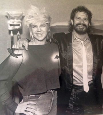 Vocalist Jessica Lowe with Lentz in the late 1980s