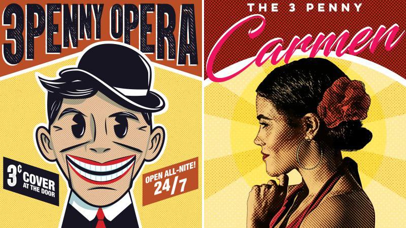 """Poster art for The Atlanta Opera's """"Threepenny Opera"""" and """"Threepenny Carmen."""" (credit: The Atlanta Opera)"""