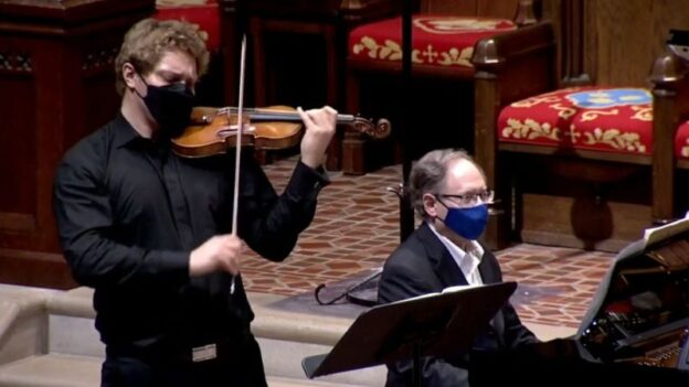 David Coucheron and William Ransom. (video frame capture: Concerts@First)