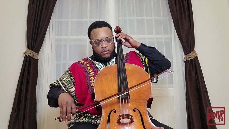 Cellist Ismail Akbar. (AMP TV)