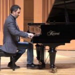 Pianist Alexander Waserman performs music of Chopin in a video from Reinhardt University's Flany Performing Arts Center. (source: video frame capture)