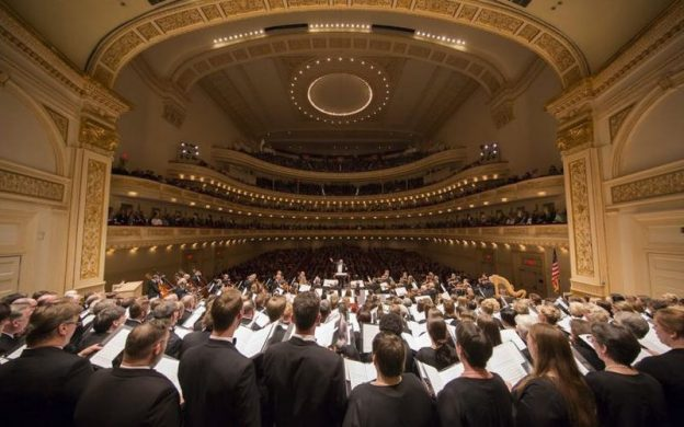 The Atlanta Symphony Orchestra and Chorus at Carnegie Hall in 2016.