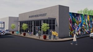 Artist's rendering of AMP's new headquarters in Capitol View