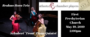 Atlamta Chamber Players May 2019 Concert