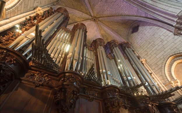 Before the fire: pipes of the Great Organ of the Cathedral of Notre Dame, Paris.