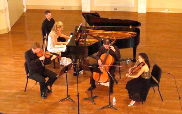 Georgian Chamber Players perform the Piano Quartet No. 2 of Antonin Dvořák. (photo: Mark Gresham)