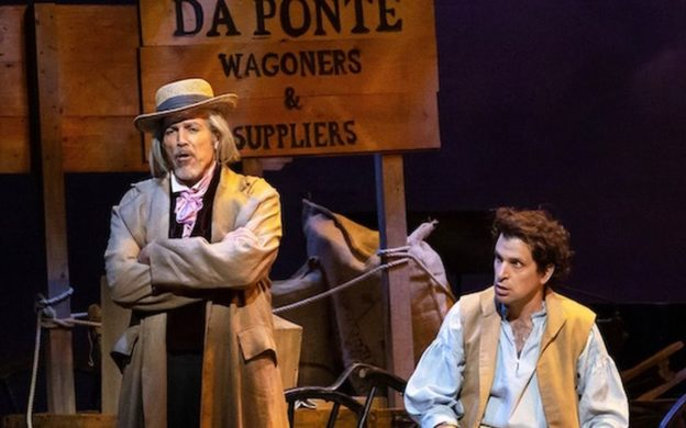 Thomas Hampson and Luca Pisaroni as the old and young Lorenzo Da Ponte. (credit: Lynn Lane)