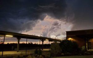 Post-tornado sky near the Lied Center.