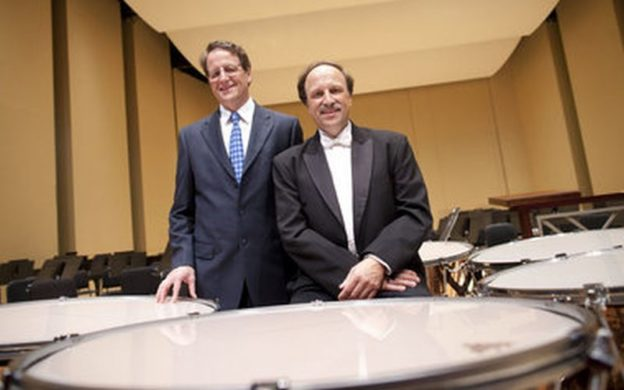 "Timpanists Paul and Mark Yancich will be duo soloists in James Oliverio's ""Dynasty"" Concerto this week with the Atlanta Symphony Orchestra. (credit: Jeff Roffman, 2011)"