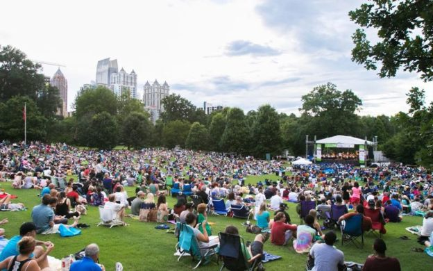 Atlanta Symphony Orchestra plays outdoors at Piedmont Park on Wednesday (source: ASO)