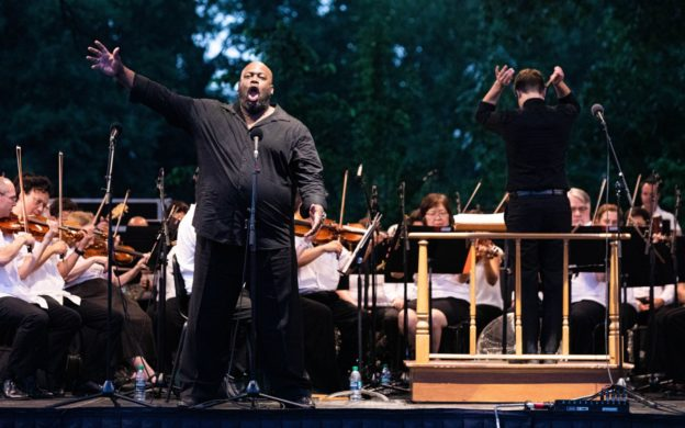"bass Morris Robinson sings ""Ha wie will ich triumphieren"" from Mozart's The Abduction from the Seraglio. (credit: Jeff Roffman)"