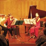 "Violinists David Coucheron and Kate Ranson, violist Julianne Lee and Cellist Charae Krueger perform Gershwin's ""Lullaby for String Quartet."" (photos credit: Mark Gresham)"