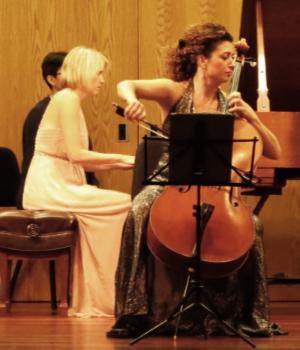 "Pianis Elizabeth Pridgen and cellist Ani Aznavoorian perform Elgar's ""Cello Concerto."" (credit Mark Gresham)"