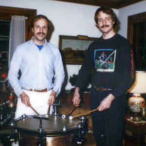 An old Yancich family  holiday photo of Mark and Paul.