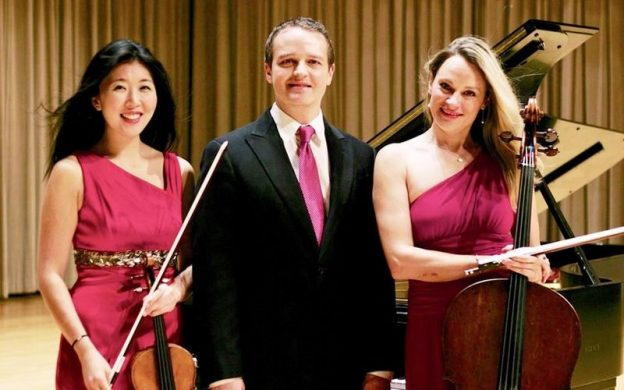 Summit Piano Trio: violinist Helen Hwaya Kim, pianist Robert Henry and cellist Charae Krueger.