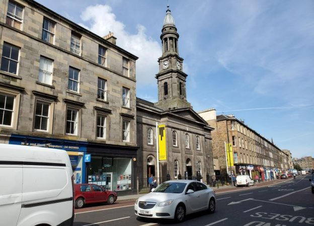 The Queen's Hall (center), Edinburgh. (photo: William Ford)