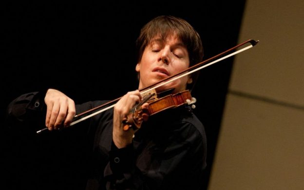 Violinist Joshua Bell playing the Gibson ex-Huberman Stradivarius. (credit: Eric Kabik)