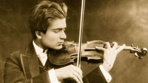 Violinist Bronislaw Huberman in a 1900 photo, taken when he was 18 years old.