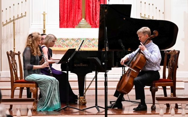"Laura Ardan, Elizabeth Pridgen and Brad Ritchie perform Tommy Joe Anderson's ""Trio"" for clarinet, cello and piano. (photo courtesy of Atlanta Chamber Players)"