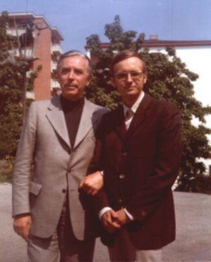 Rudolf Firkušný and Giorgio Koukl in 1974.