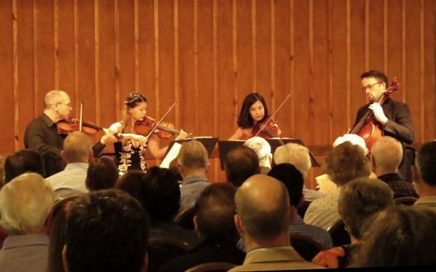 Peachtree String Quartet performing at Garden Hills Recreation Center. (credit: Mark Gresham)
