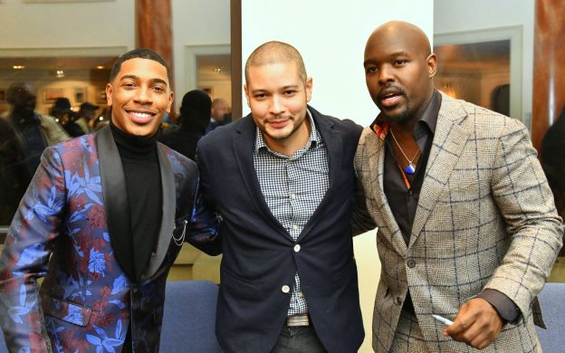l-r: pianist Christian Sands, bassist, Luques Curtis, and drummer Ulysses Owens jr. (credit: Allen Blue)