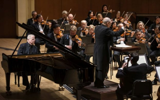 Pianist Emanuel Ax performs Brahms' Piano Concerto No. 1 with Robert Spano and the Atlanta Symphony Orchestra. (credit: Raftermen)