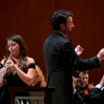 "ASO principal oboist Elizabeth Koch Tiscione and guest conductor James Gaffigan in Thursday's performance of Ralph Vaughan Williams' ""Concerto for Oboe and String Orchestra."" (credit: Nunnally Rawson)"