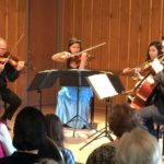 Peachtree String Quartet in Sunday's concert at Garden Hills Recreation center. (credit Harry Owen)