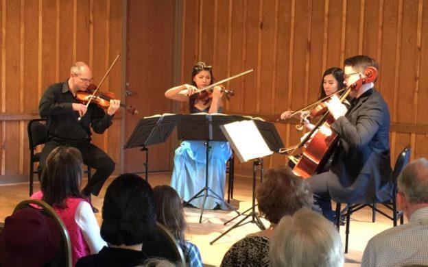 Peachtree String Quartet in Sunday's concert at Garden Hills Recreation center. (credit Harry Owen)