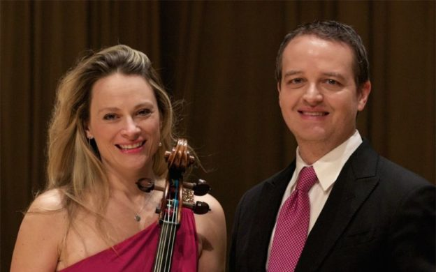 Cellist Charae Hrueger and pianist Robert Henry perform with clarinetist John Warren on Monday, February 17 at the Bailey Performance center in Kennesaw. (source: instantencore.com)