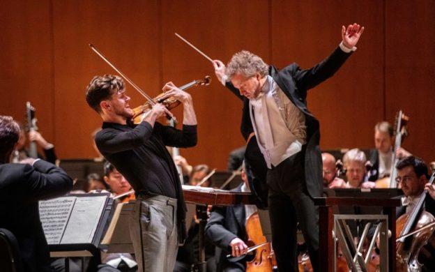 High flight: violinist Blake Pouliot an conductor Thomas Søndergård. (credit: Jeff Roffman)