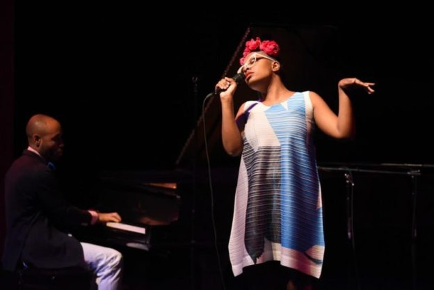 Cécile McLorin Salvant and Sullivan Fortner (source: WBUR)