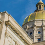 Gold dome of the Georgia State Capitol.