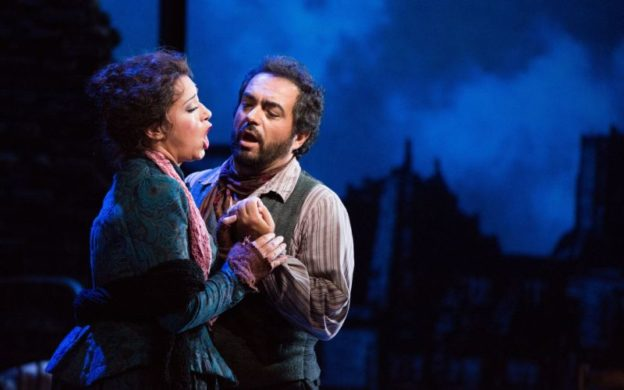 "A different pandemic, romanticized: Maria Luigia Borsi and Gianluca Terranova in The Atlanta Opera's 2015 production of Puccini's ""La bohème."" The highly popular opera, in which tuburculosis plays a pivotal role, returns in the company's 2020-21 season.(credit: Jeff Roffman)"