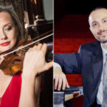 Violinist Solomiya Ivakhiv and pianist Antonio Pompa-Baldi , piano (photos courtesy of Classical Music Communications)