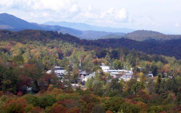 Highlands, North Carolina, as sen from Sunset Rock.
