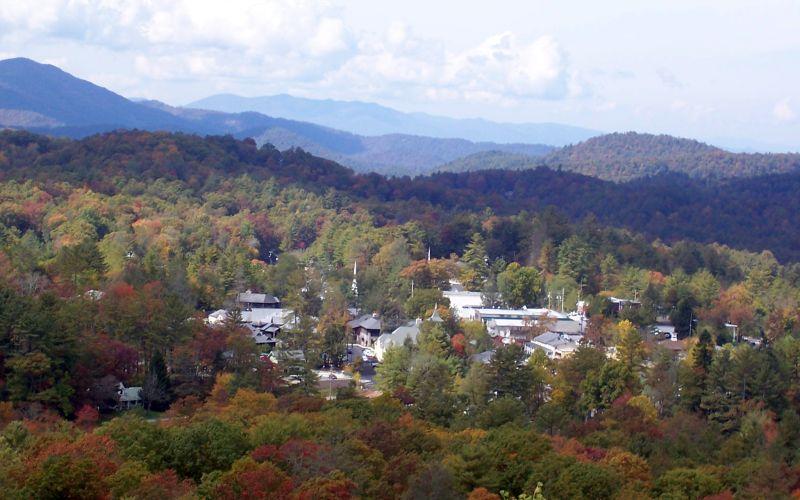 Highlands, North Carolina, as seen from Sunset Rock.