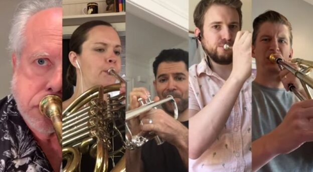 Tthe Atlanta Symphony Brass Quintet: Michael Moore, Kimberly Gilman, Michael Tiscione, Stuart Stephenson and Jeremy Buckler.(source: video still)