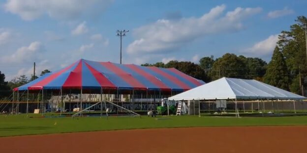 "Recently raised: ""The Big Tent"" in which the Atlanta Opera will perform this fall. (video capture, Felipe Barral/TAO)"