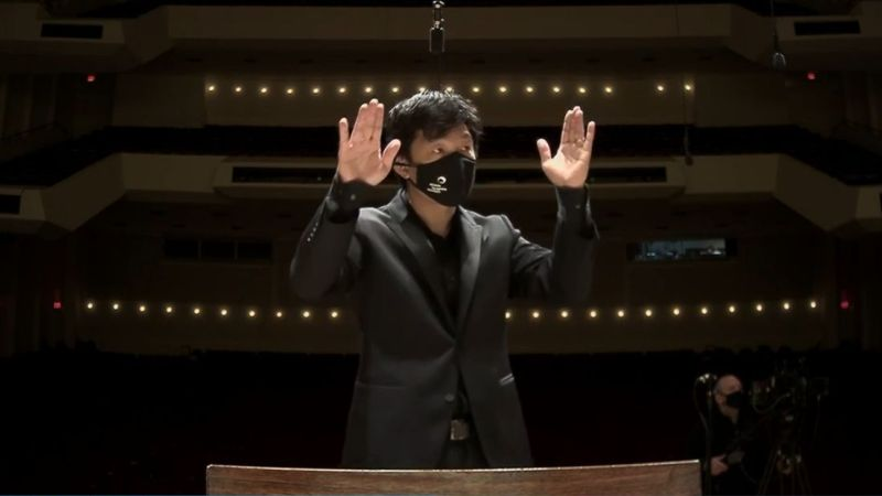 ASO associate conductor Jerry Hou (source: ASO video fame capture)