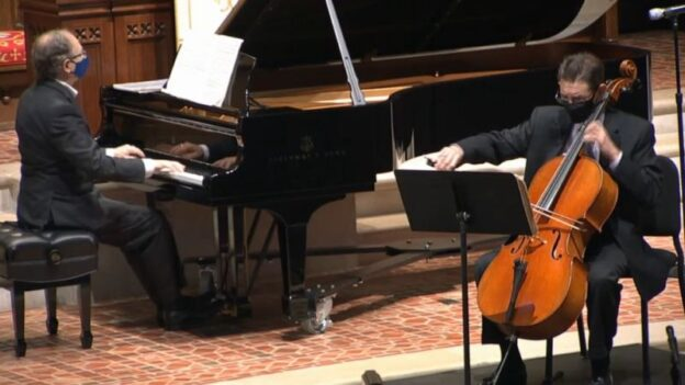 Pianist William Ransom and cellist Christopher Rex. (source: video frame capture)