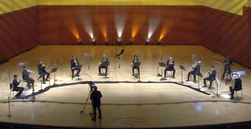 "The ASO brass, sans conductor, perform Lauren Bernofsky's ""Passacaglia."""