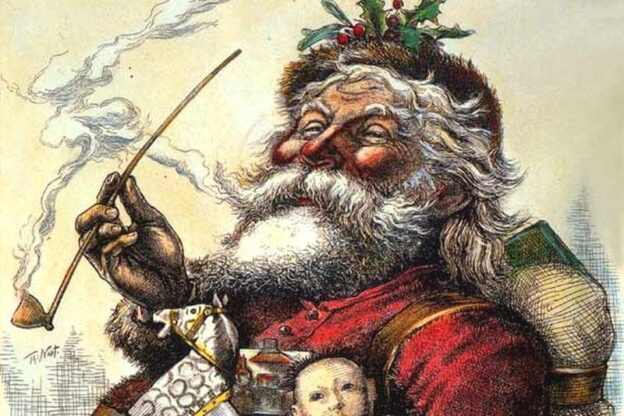 vSanta Claus (Thomas Nast, 1881, colorized)