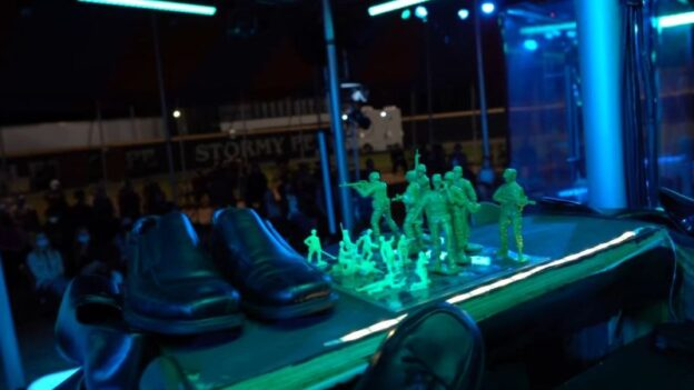 Shoes and toy soldiers:symbolically important in The Kaiser of Atlantis (credit: Felipe Barral)
