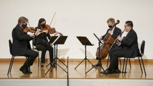 Atlanta Chamber Players musicians Justin Bruns, Catherine Lynn, Brad Ritchie and Alcides Rodriguez. (courtesy ACP)