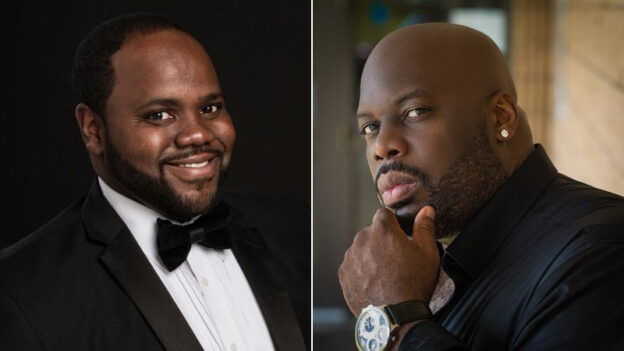 Ten or Timothy Miller and bass Morris Robinson perform in the concluding virtual concert of the Atlanta Music festival on Saturday. (sources AMF & Opus 3)